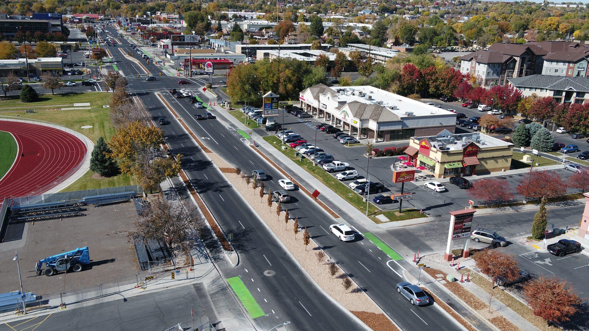 Bulldog Blvd Protected Bike Lanes, Provo, UT « Civil Science